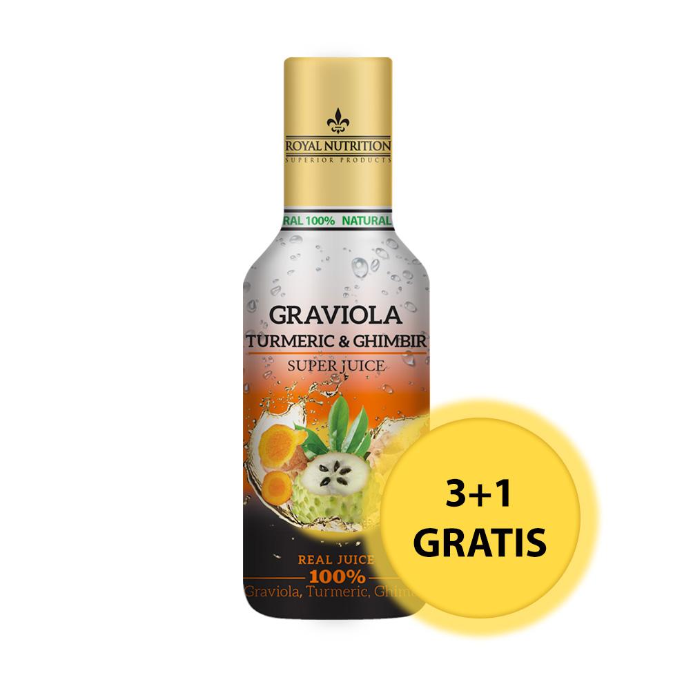 Promotie Graviola & Turmeric & Ghimbir (470 ml) 3 + 1