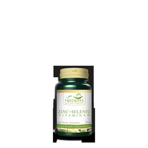 Zinc + Seleniu + Vitamina C <br/> 90 cps